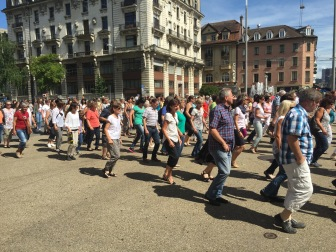 Linedance Flash Mob Biel 13-Jun-2015